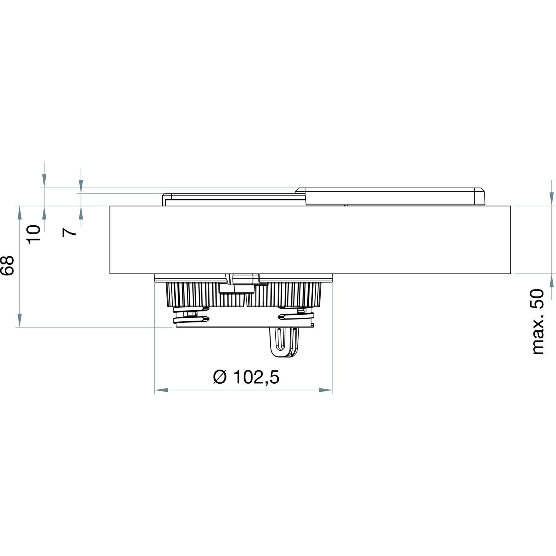 -1592/7000/3300 Schulte Evoline Square 80/Schuko con USB Charger Acero Inoxidable 1/Pieza