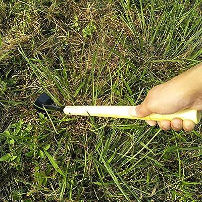 Kukakoo'Household Hand Tool, Garden Planting Pickaxe Hoe Weeding Fork Weed Extractor Yard Lawn Hand Tool - Fork