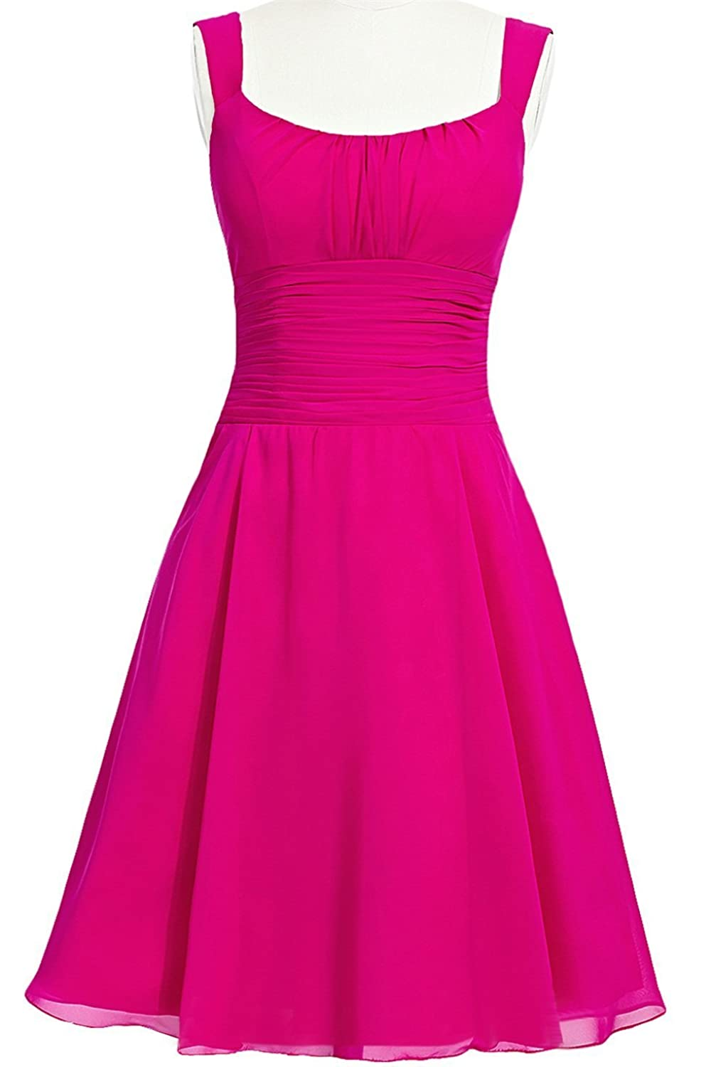 MittyDressesWomens Evening Homecoming Prom Party Cocktail Dress Size 14 US Fuchsia