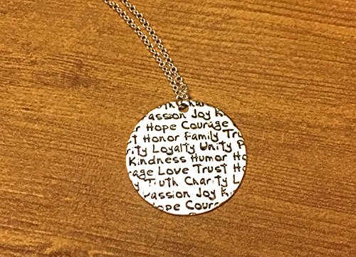 My Values Necklace (College Costumes Girls)