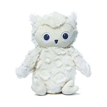 Amazon Com Baby Gund Greary Owl Stuffed Animal Plush Rattle White