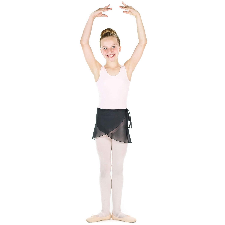 Danzcue Falda de Baile de Ballet de Gasa para niñas con Corbata de ...