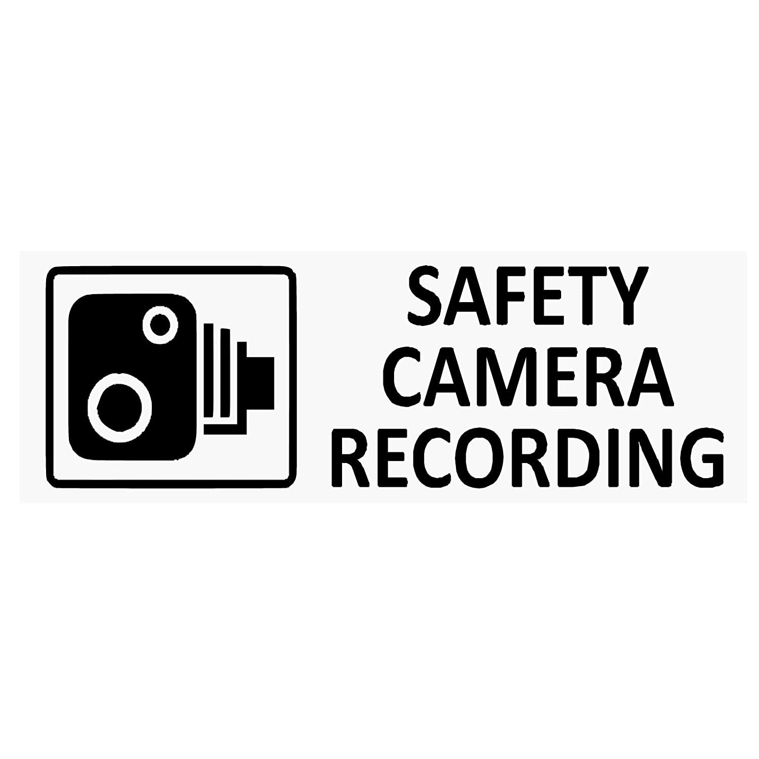 Platinum Place 5 x BLACK SAFETY CAMERA Recording-30x87mm WINDOW Stickers-Vehicle Security Warning Dash Cam Signs-CCTV, Car, Van, Truck, Taxi, Mini Cab, Bus, Coach