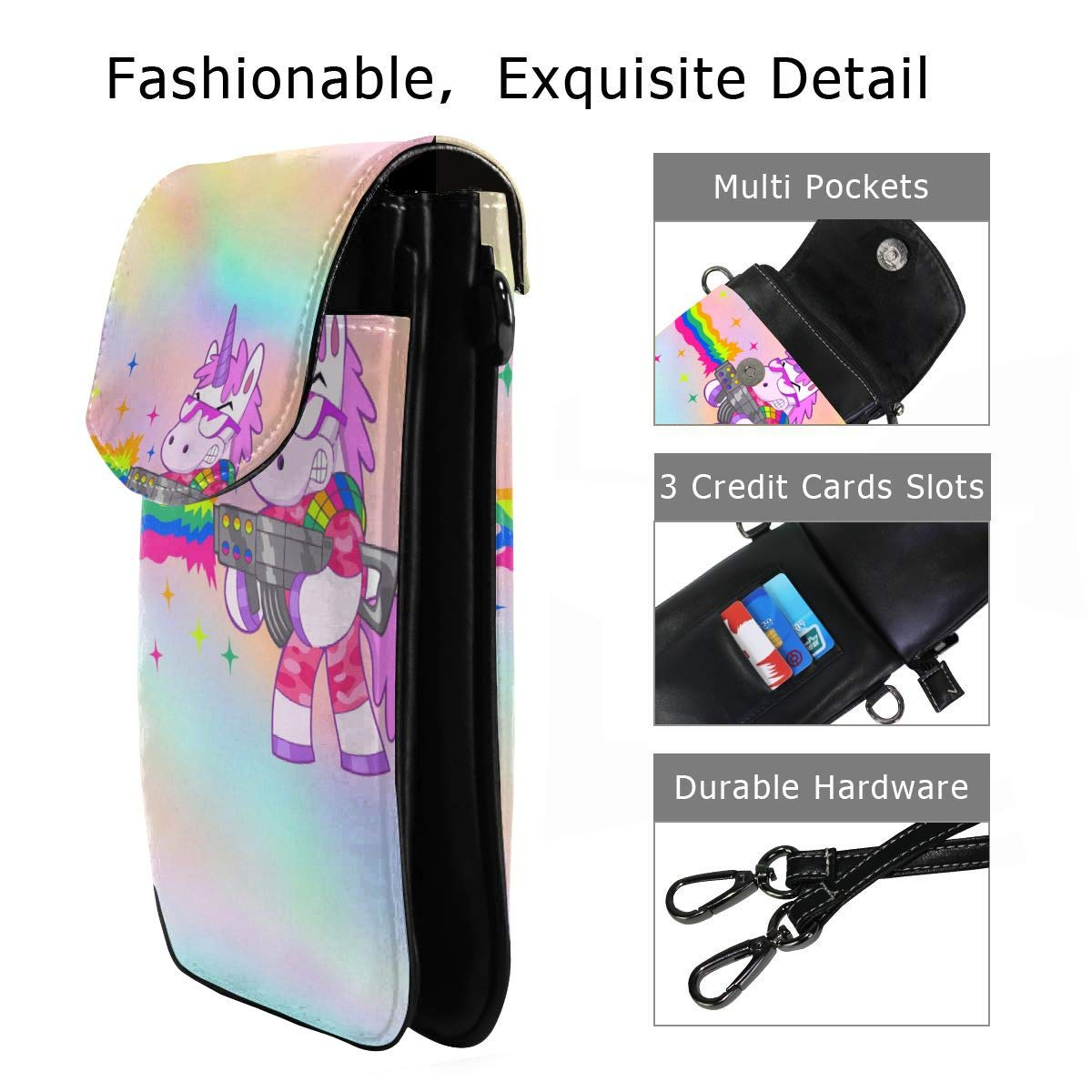 Small Cell Phone Purse Unicorn Kill Crossbody Bags with Shoulder Strap Coin Purse Wallet for Women,Girls