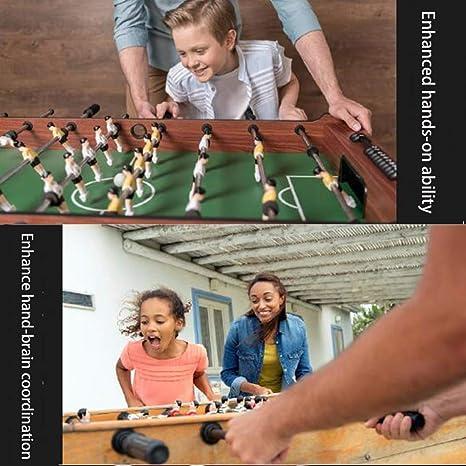 WXXW Futbolín De Mesa Juego Mesa De Fútbol Madera 120x61x79cm para Niño 3 Años y Adultos Sala De Juegos Interior y Exterior, Regalos Navideños, Manos De Entrenamiento, Juegos De Rompecabezas: Amazon.es: Deportes