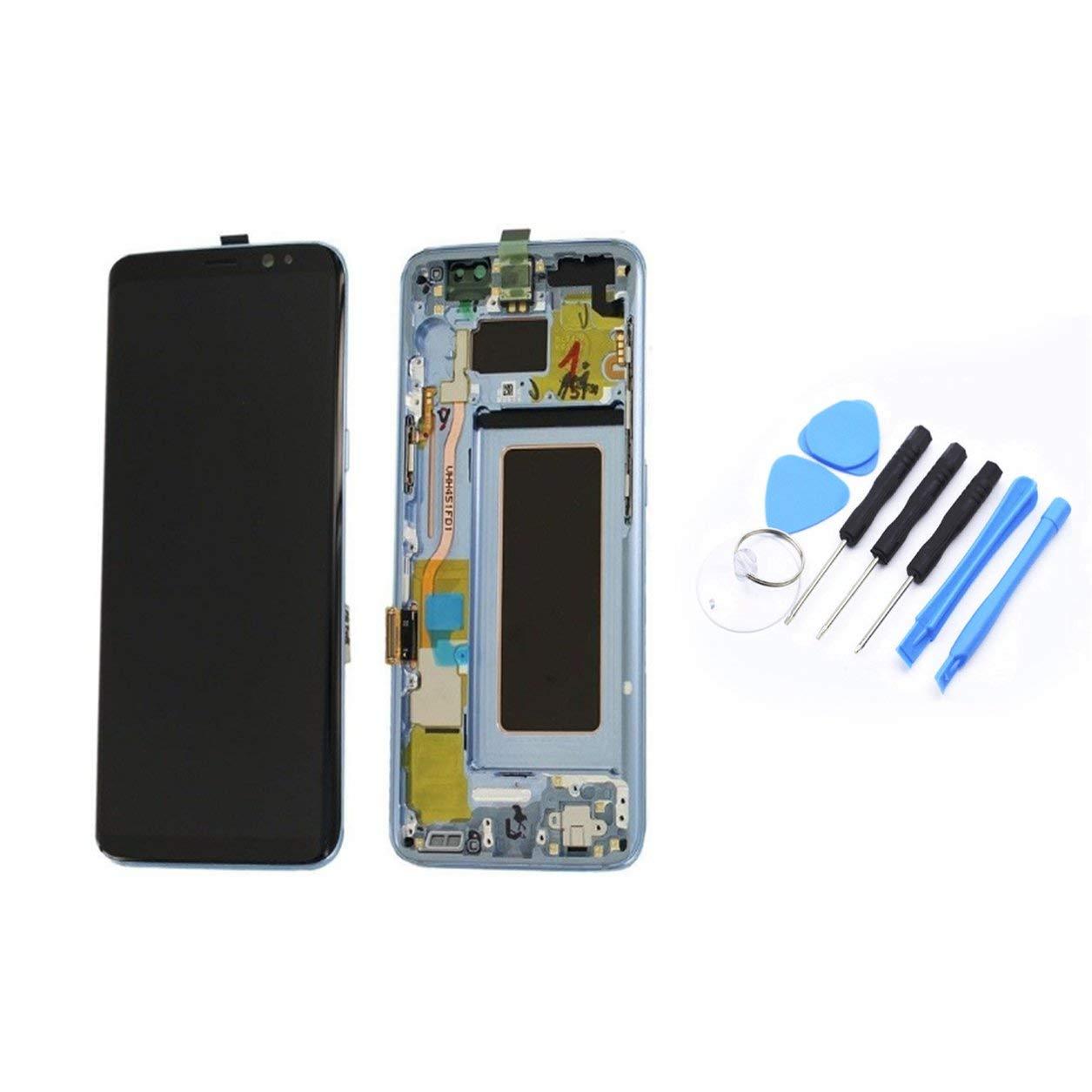 Dailyinshop Pantalla LCD de Pantalla táctil digitalizador y el Marco de Piezas de Recambio del Profesional Universal para los teléfonos Samsung S8