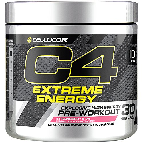 Cellucor C4 Extreme Energy Pre Workout Powder Energy Drink with Caffeine, Creatine, Nitric Oxide & Beta Alanine, Strawberry Kiwi, 30 Servings