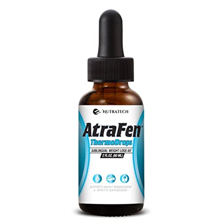 Nutratech Atrafen Thermodrops Powerful Sublingual Diet Drops and Fat Burner Provides Fast Acting Appetite Suppression and Weight Loss.