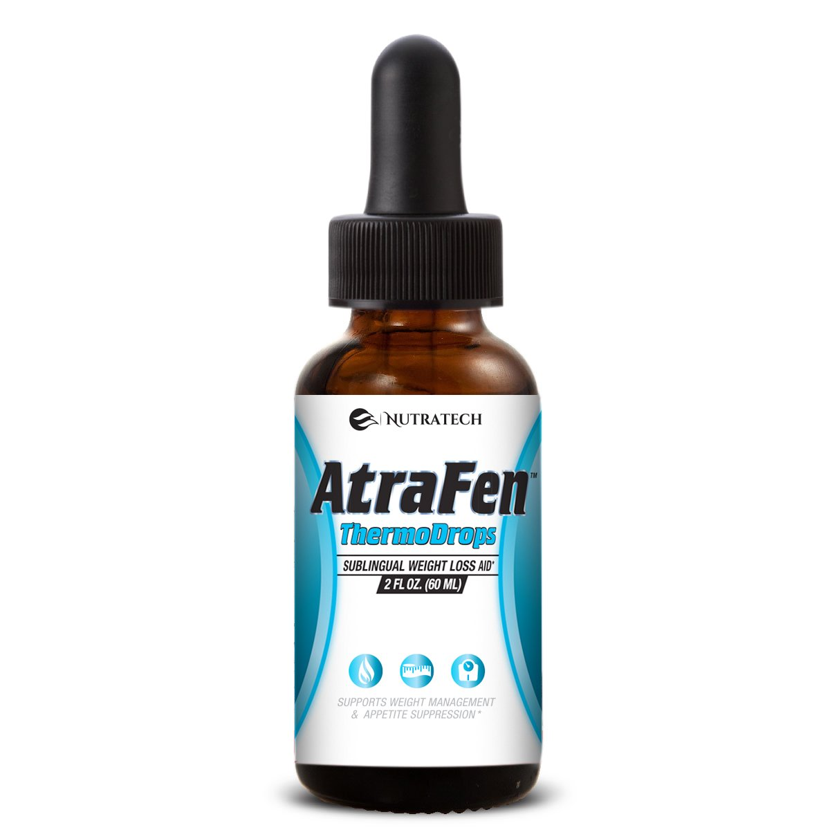 Nutratech Atrafen Thermodrops - Powerful Sublingual Diet Drops and Fat Burner Provides Fast Acting Appetite Suppression and Weight Loss.