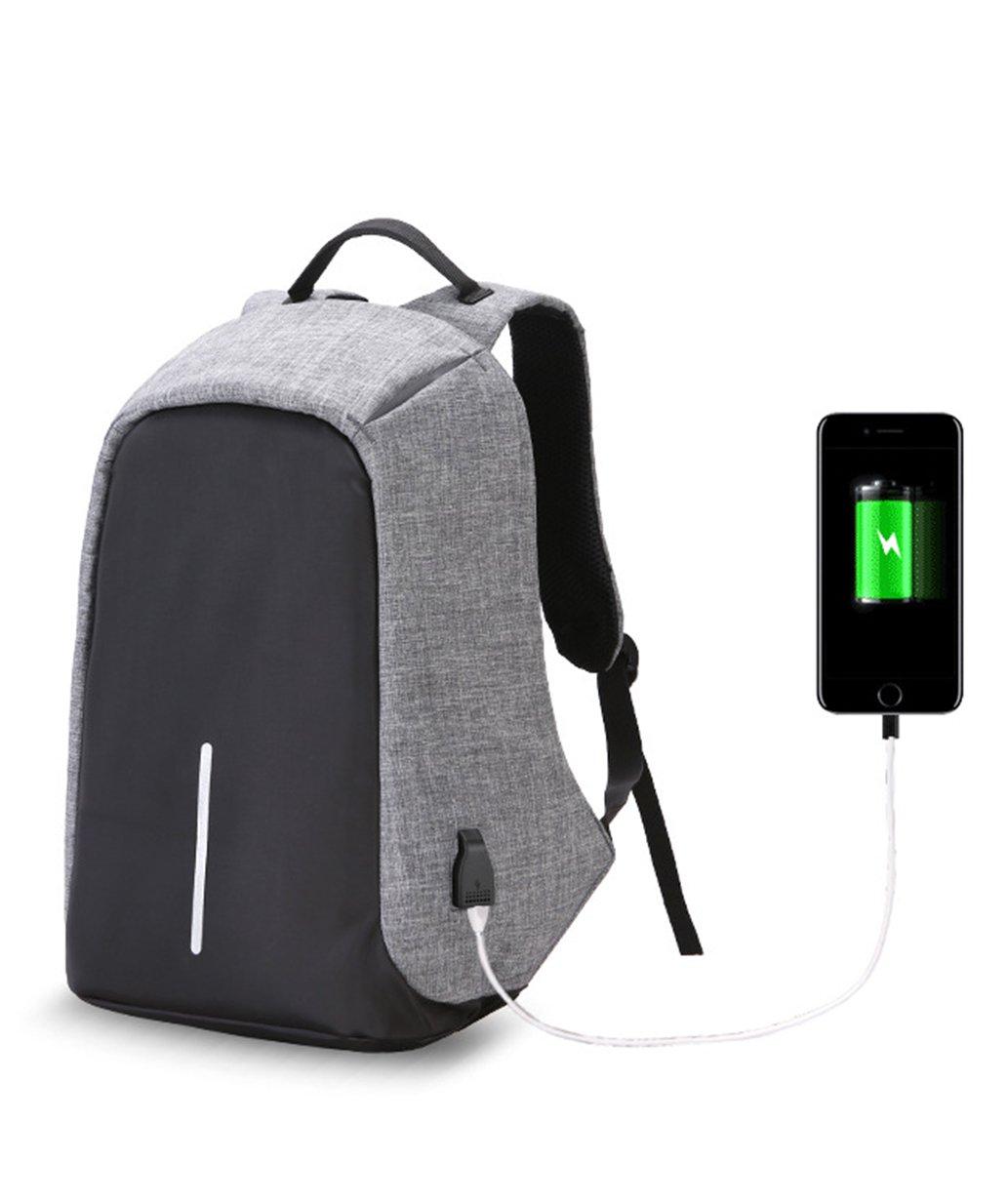 Herren Damen Laptop Rucksack mit USB-Port Wasserdicht Business ...