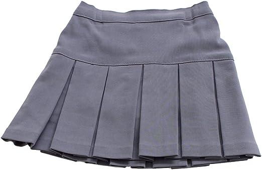 Marca ropa de descanso para niñas Fine Shop gris falda plisada de ...