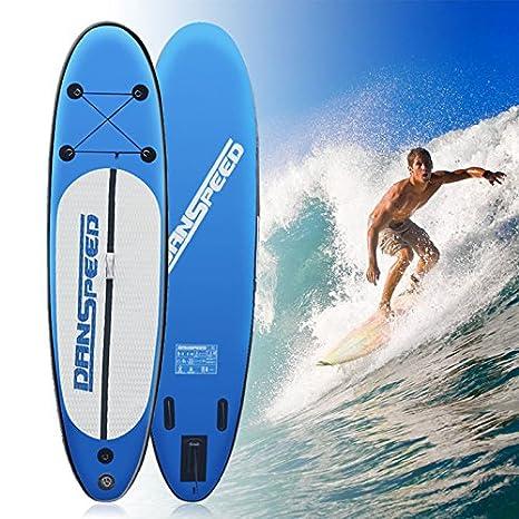 SolarNovo Tabla de Paddle Surf Board Inflable, Set Aqua de Tabla de Sup Hinchable de 305 x 75 x 15cm, con Inflador, Kit de Reparación, hasta 140 Kg: ...