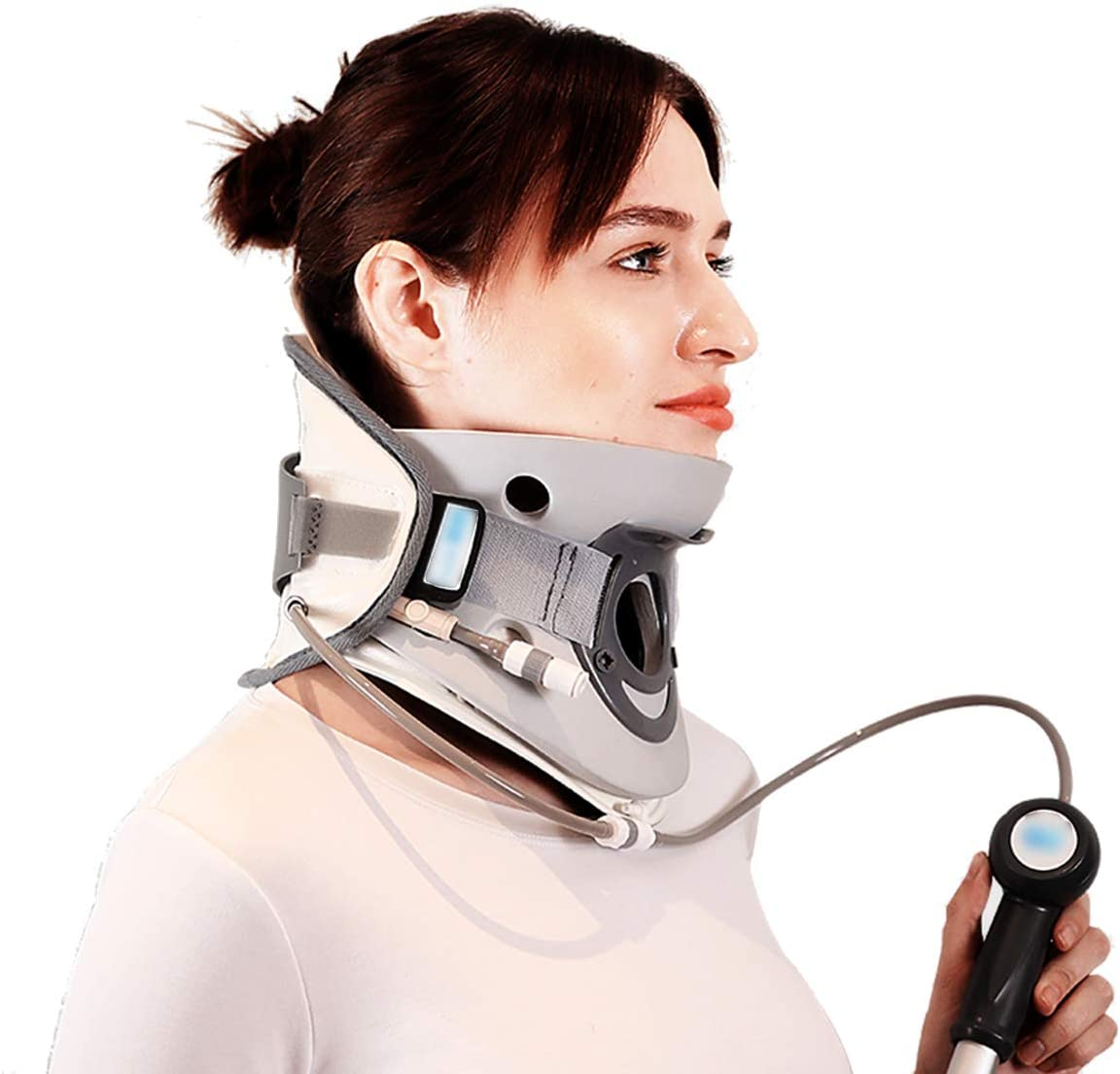 Cervical Neck Traction Device - Adult Cervical Traction Device, Stretch Correction, Home Inflatable Neck Support, Hot Neck Support