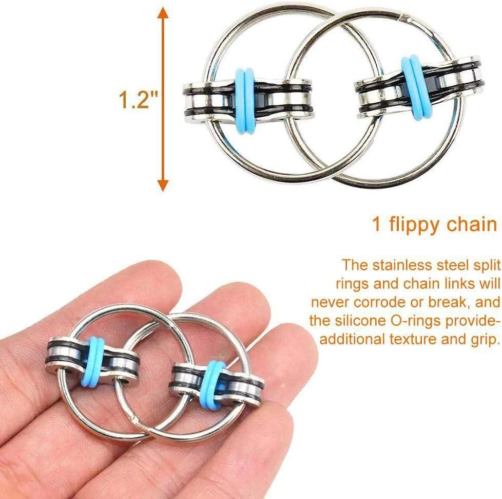 Dan/&Dre 3 Piezas Divertidas Cadenas antiestr/és Juguetes para ni/ños Adultos Cadena de Bicicleta Fidget Spinner Pulsera Serpiente Rompecabezas Juguetes educativos