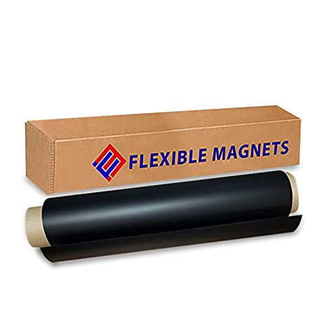 photograph relating to Inkjet Printable Vinyl Roll known as Functional Vinyl Roll of Magnet Sheets - Black, Tremendous Sturdy Desired for Crafts - Business Inkjet Printable (2 feet x 3 feet)