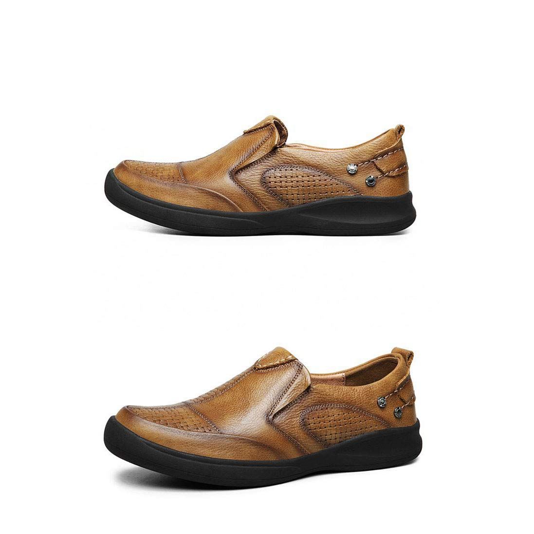 Mens Shoes Leather Shoes Loafers Shoes Flat Loafers Mens Casual Shoes Outdoor Breathable Moccasins Slippers