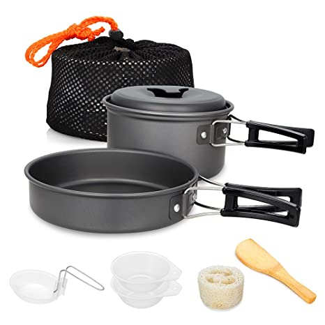 Ultralight Camping Cookware Utensils Outdoor Tableware Set Hiking Picnic Backpacking Camping Tableware Pot Pan 1-2persons Selling Well All Over The World Camping & Hiking Outdoor Tablewares