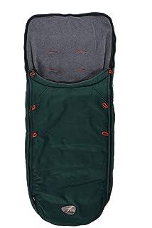 TFK  Kinderwagen Fußsack mit Fleece universal SchwarzT-00-059-010