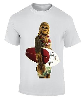 Chewbacca From Star Wars Surfing T Shirt Herren Amazon De Bekleidung