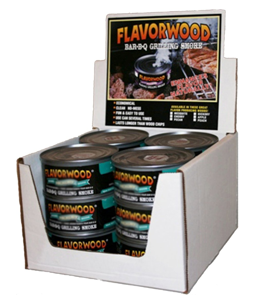 Grilling Smoke - Reusable Flavorwood BBQ Grill Smoke in a Can (12 Can Value Pack - Mesquite) - Easily Infuse Natural Wood Flavor