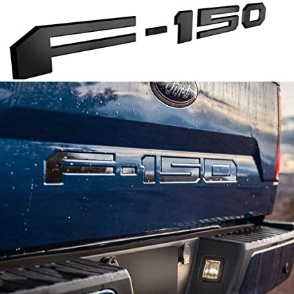 Black 150 Letters ABS Tailgate Insert Decal Stickers for 150 2018-2019