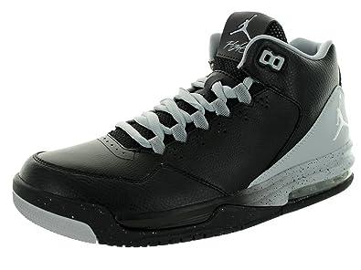 Nike Jordan Men's Jordan Flight Origin 2 Black/White/Wolf Grey Basketball  Shoe 15