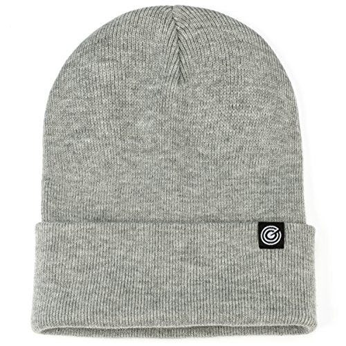 - Revony Cuffed Beanie for Men & Women - Soft, Warm Knit - 10 Colors (Light Grey)