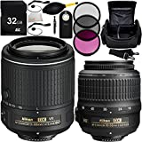 Nikon AF-S DX NIKKOR 18-55mm f/3.5-5.6G VR Lens + Nikon AF-S DX NIKKOR 55-200mm f/4-5.6G ED VR II Lens - International Version (No Warranty) + MORE