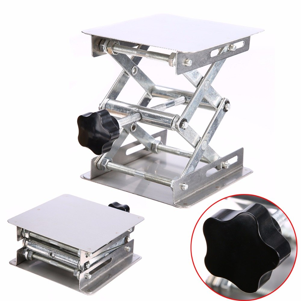 Adjustable Laboratory Lifting Platform Stainless Steel Lab Scissor Stand Rack 100100mm