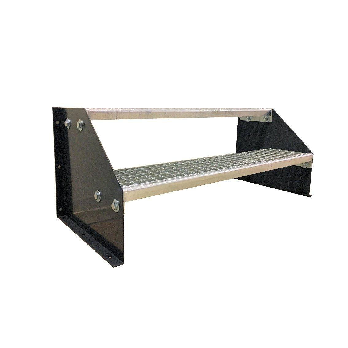 Freistehende Standtreppe Stahltreppe 2 Stufen//Breite 70cm H/öhe 42cm Verzinkt//Stabile Industrietreppe f/ür den Au/ßenbereich