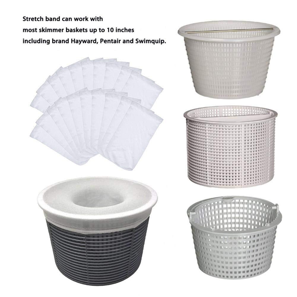 earlyad Filtergewebe Schwimmbadfilter M/üllabdeckung Socken Verschl/üsselung Dickes elastisches Nylon-Filtergewebe Geeignet f/ür Filterkorb und Skimmer