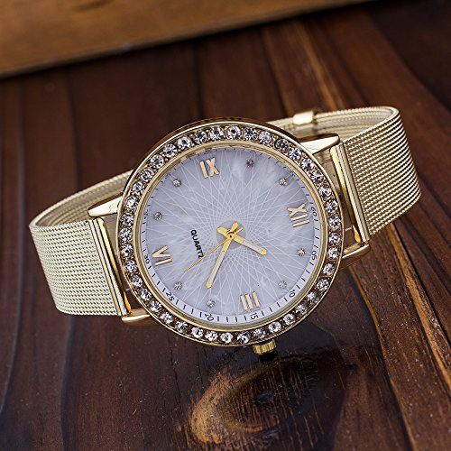 Amazon.com: Womans Watch,Fashion Diamond Roman Numerals Bracelet Analog Stainless Steel Wristwatch Clock Axchongery (White): Clothing