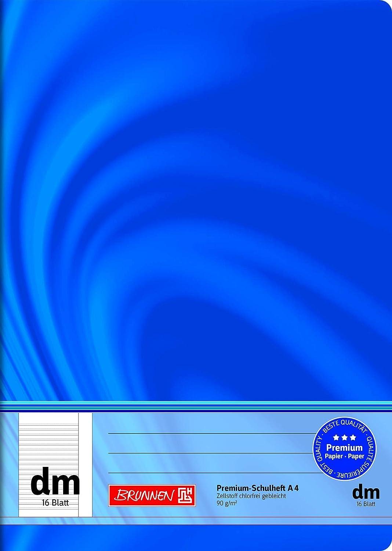 herlitz Schulheft x.book DIN A4 Lineatur dm liniert 16Blatt mit Rand Hilfslinien