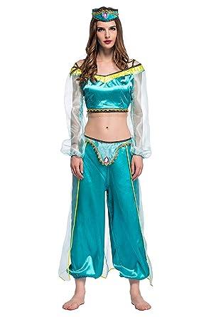 xiemushop - Disfraz de Princesa Arabe para Mujer Traje de Bailarina Cosplay Halloween