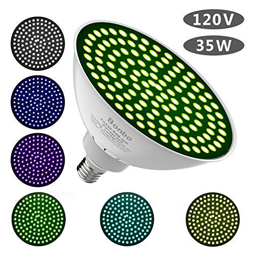 Series Pool Light (Led Underwater Color Pool Lights,Bonbo 120V 35W RGB Color Changing Swimming Pool Light Bulb E26 Base 300-500w Traditional Bulb Replacement for Most Pentair Hayward Light Fixture)