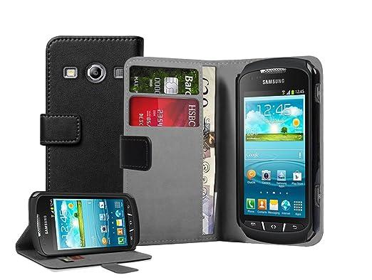 27 opinioni per Membrane- Nera Portafoglio Custodia per Samsung Galaxy Xcover 2 II (GT-S7710 /