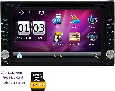 6.2 pulgadas Doble Din pantalla táctil digital GPS Dash GPS de navegación estéreo de 2 DIN