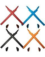 HKUCO Plus Black/Grey Replacement Silicone Leg Set For Oakley Crosslink Sunglasses Earsocks Rubber Kit mPm1IhZlS0