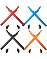 HKUCO Plus Black/Grey Replacement Silicone Leg Set For Oakley Crosslink Sunglasses Earsocks Rubber Kit