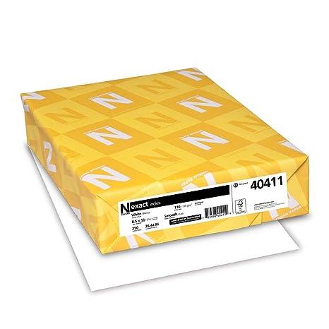 Amazon.com: Neenah Exact Index Papel grueso, 250 hojas ...