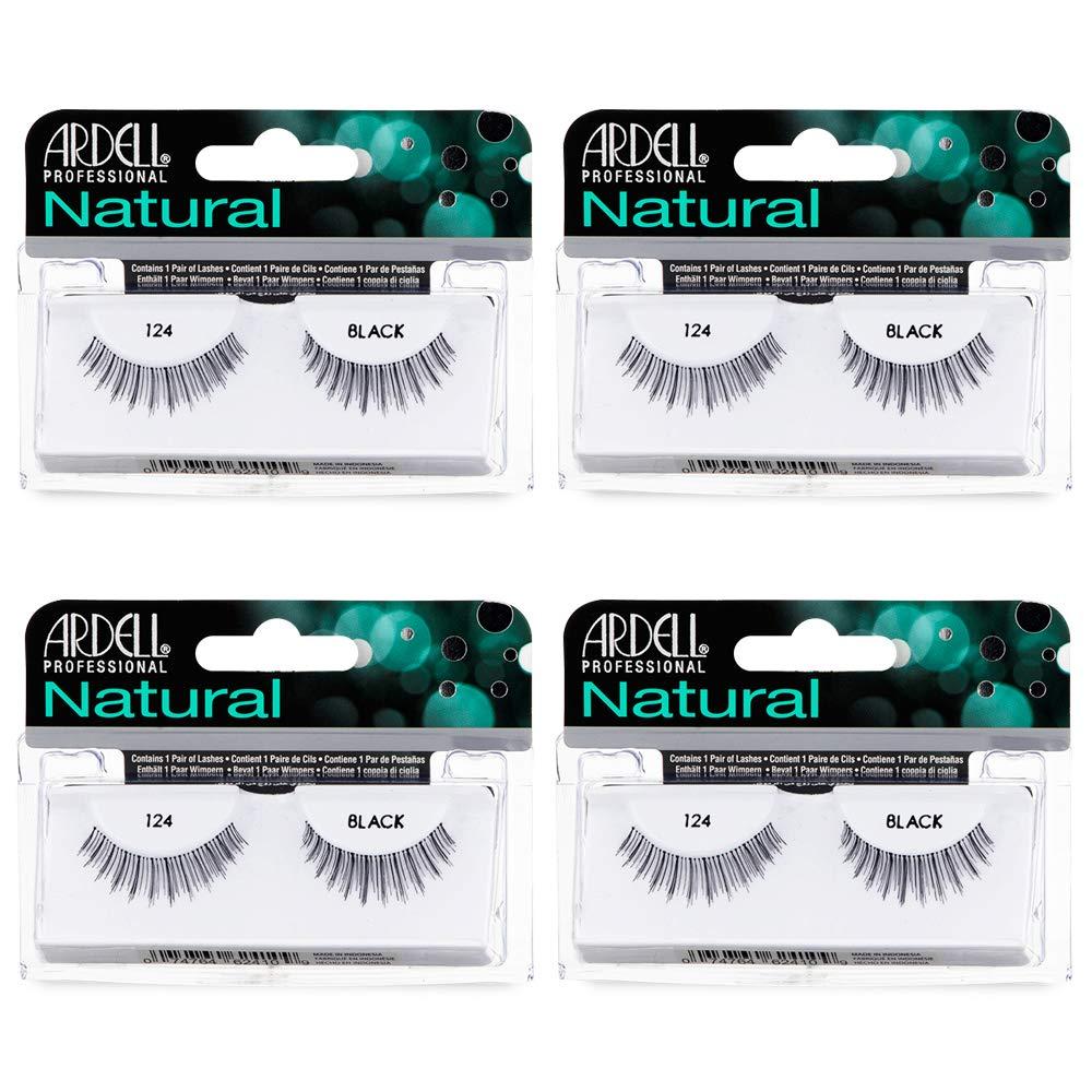 Ardell Natural Lashes False Eyelashes 124 Black (4 pack)