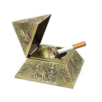 Hamr 26 Artesanías Decoración Pirámide Cigarro Cenicero Cigarrillo Cenizas Bandejas Pub Mesa Ceniceros Retro Talla Escritorio