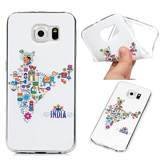 huge selection of c7555 c32a4 Amazon.com: ZSTVIVA Case for Samsung Galaxy S6, TPU Shell Soft ...