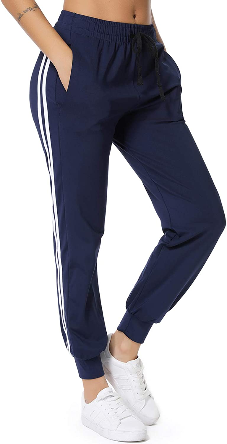 Tomwell French Terry Pantaloni Sportivi Modello Jogger Fitness Moda Lunghi Donna Athletic-Pants Donna