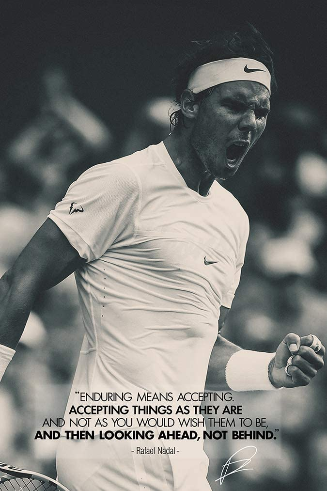 Rafael Nadal Quote Art Photo Print Poster 12 X 8 Inch A4 Pre Signed Motivational Amazon Co Uk Kitchen Home