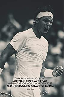 Foto firmada por Rafael Nadal, tenis # 1: Amazon.es: Hogar