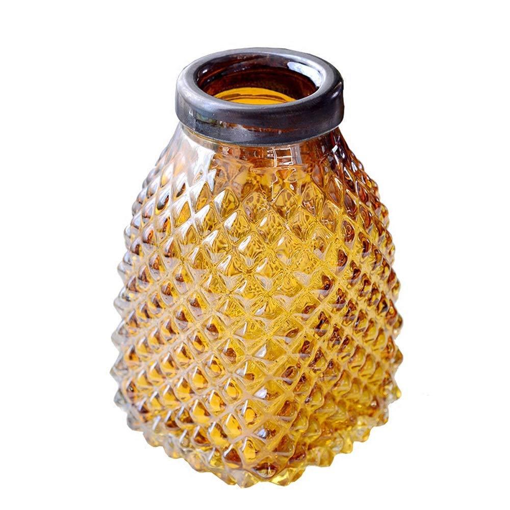 色ガラス花瓶用花緑植物結婚式の植木鉢装飾ホームオフィスデスク花瓶花バスケットフロア花瓶 (サイズ さいず : S s) B07QTJ81JT  S s