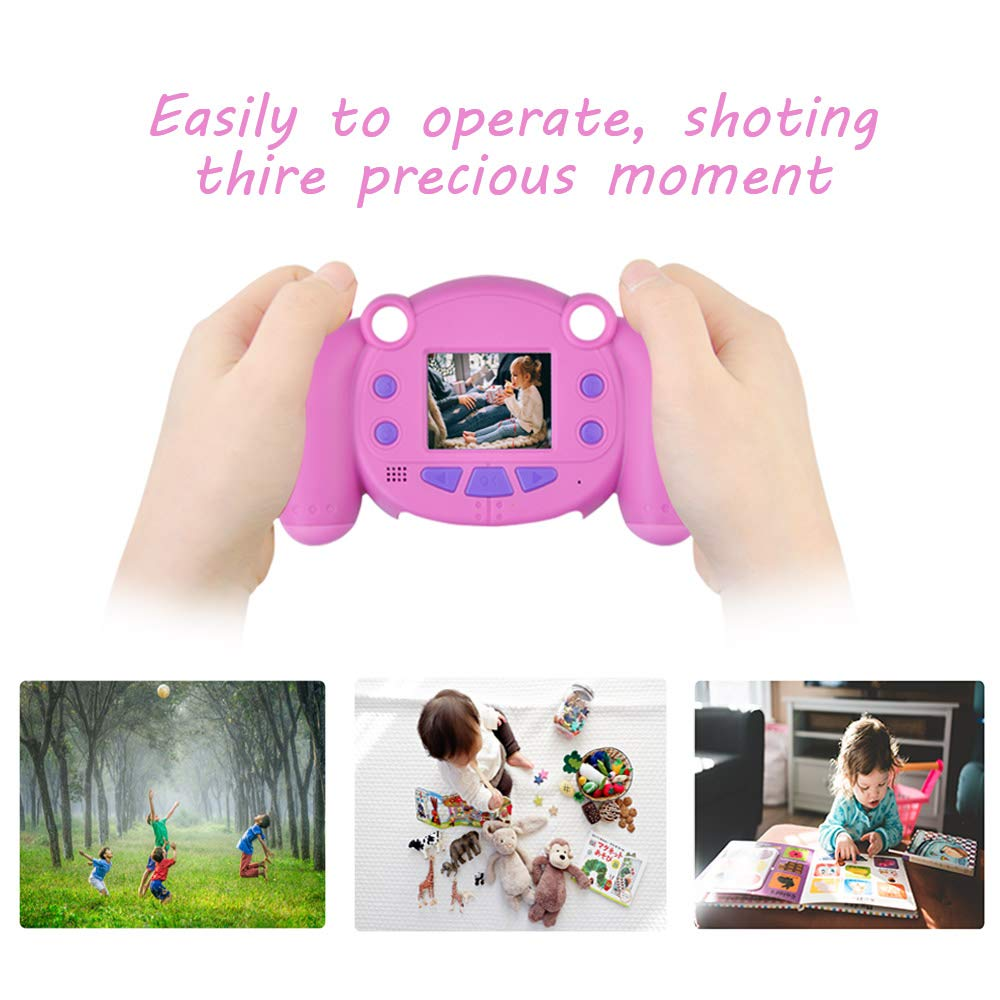 denicer Kids Camera Children Camcorders HD 2 Inch Screen with Mic, SD Card Non-Slip and Anti-Drop Design Children's Camera Taking Videos and Photos for Girls & Boys Birthday Gift by denicer (Image #5)