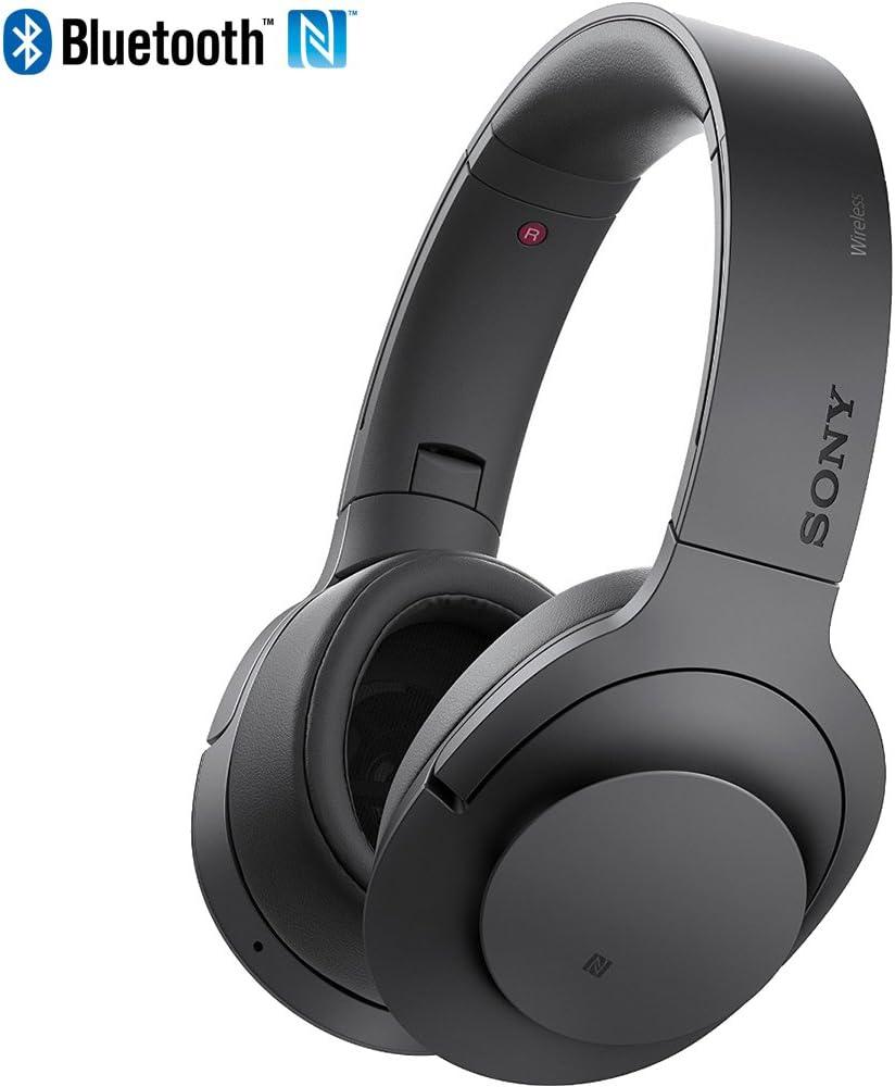 Sony MDR100 h.Ear on Wireless NC On-Ear Bluetooth Headphones w/ NFC - Charcoal Black - (Renewed)