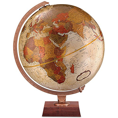 Replogle Globes Northwoods Globe, 12-Inch, Bronze Metallic